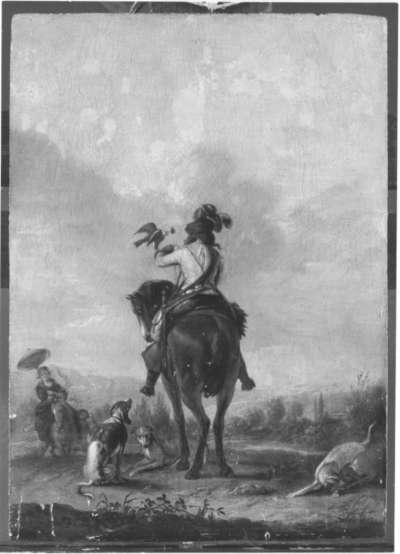 Falkenier zu Pferde