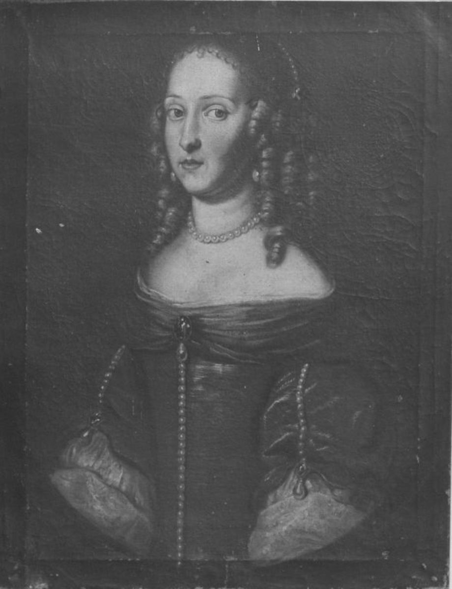 Bildnis der Landgräfin Marie Hedwig von Hessen-Darmstadt, Tochter des Landgrafen Georg II., Herzogin von Sachsen-Meiningen (1647-1680) (?)