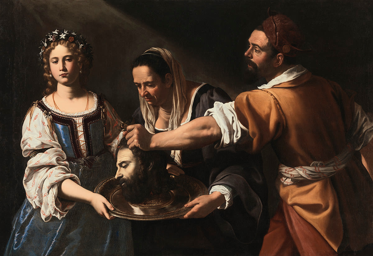 Salome empfängt das Haupt des Johannes