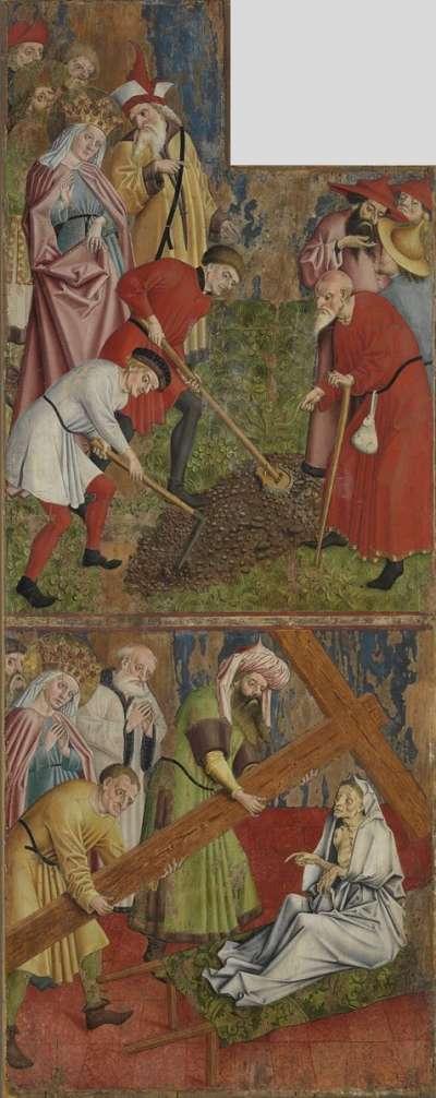 Kreuzaltar, Flügelaußenseite: Kaiserin Helena findet das wahre Kreuz Christi und Erprobung des Kreuzes