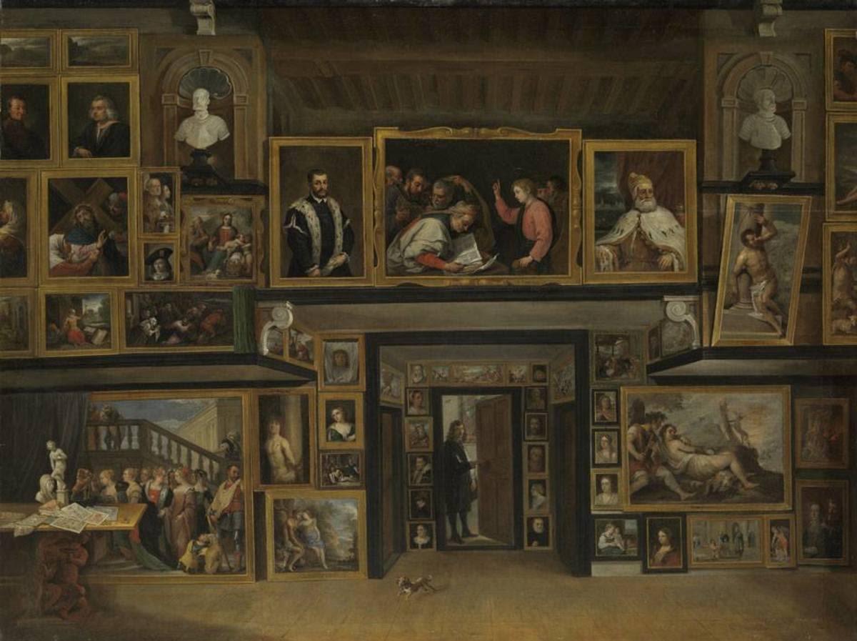 Ansicht der Galerie des Erzherzogs Leopold Wilhelm in Brüssel (III)