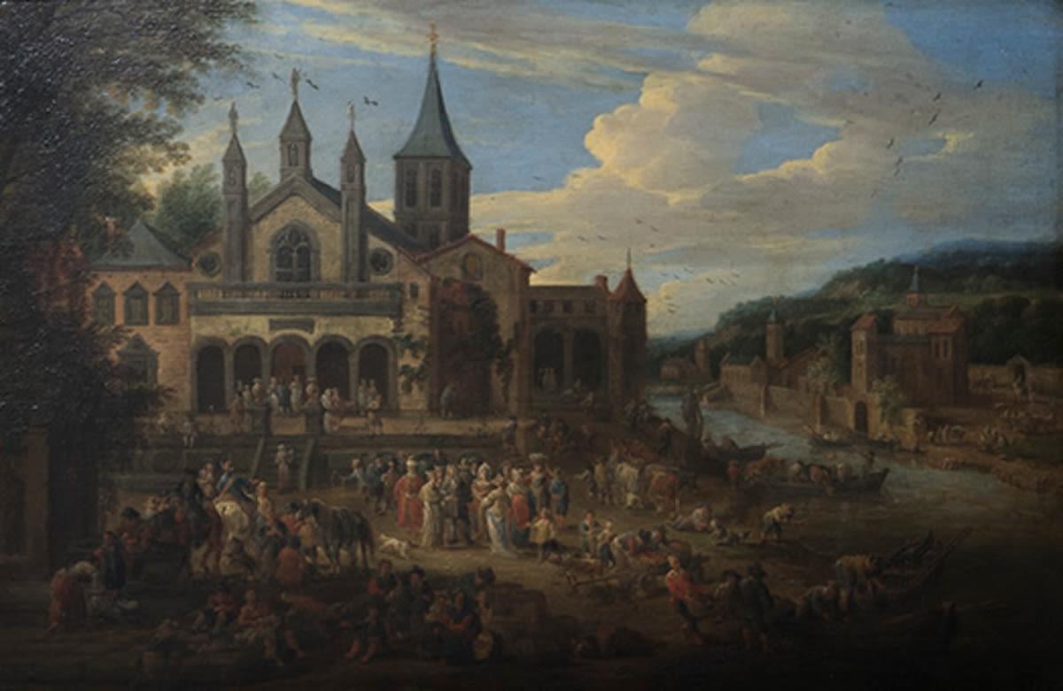 Vor dem Kloster