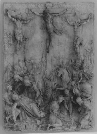 Christus am Kreuz mit Schächern