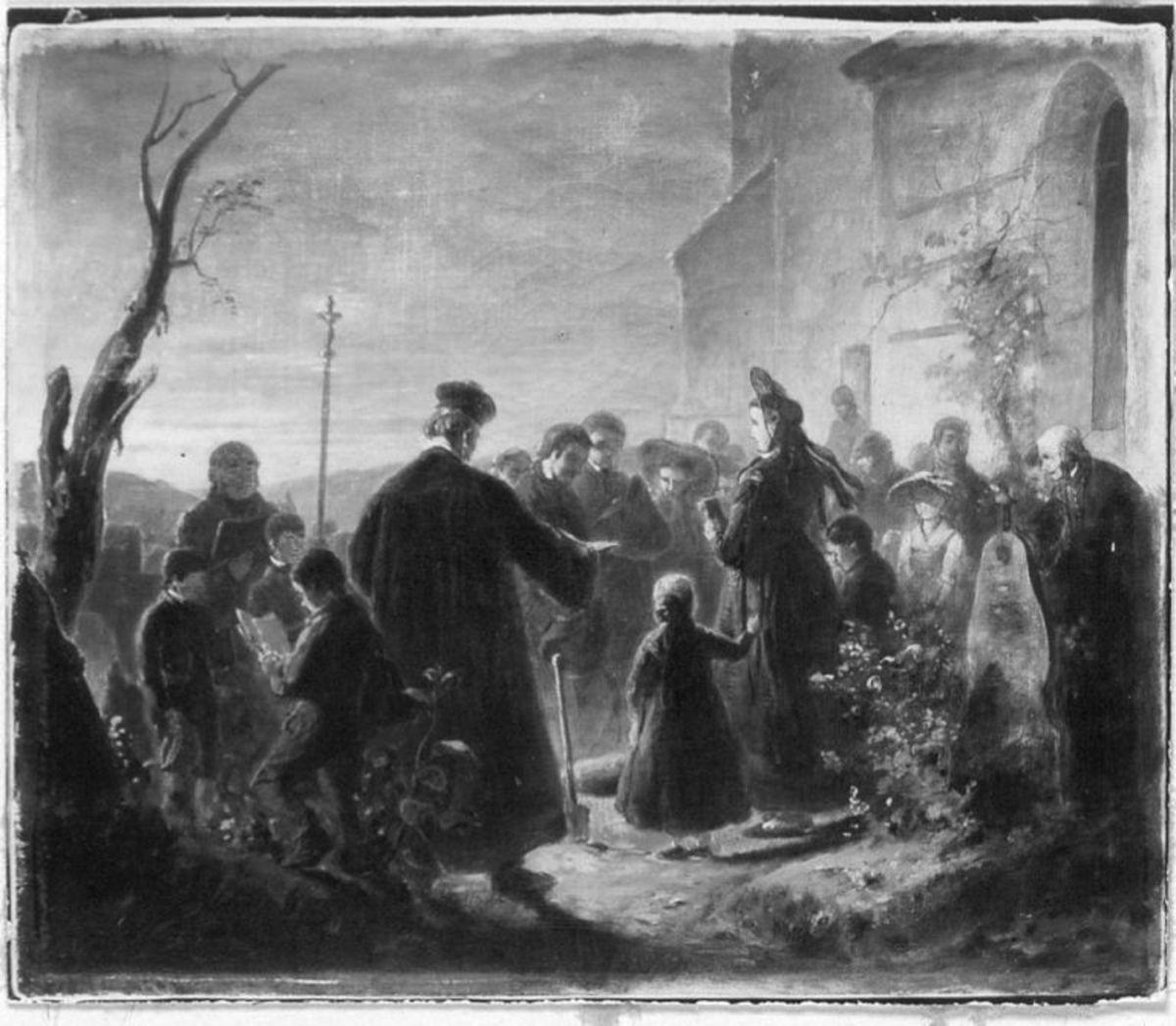 """Illustrationen zu Melchior Meyrs """"Erzählungen aus dem Ries"""": Christines Rückkehr"""