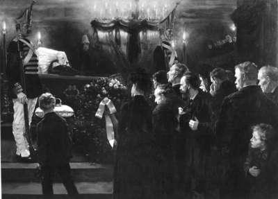 Aufbahrung der Leiche Wilhelms I. im Dom zu Berlin
