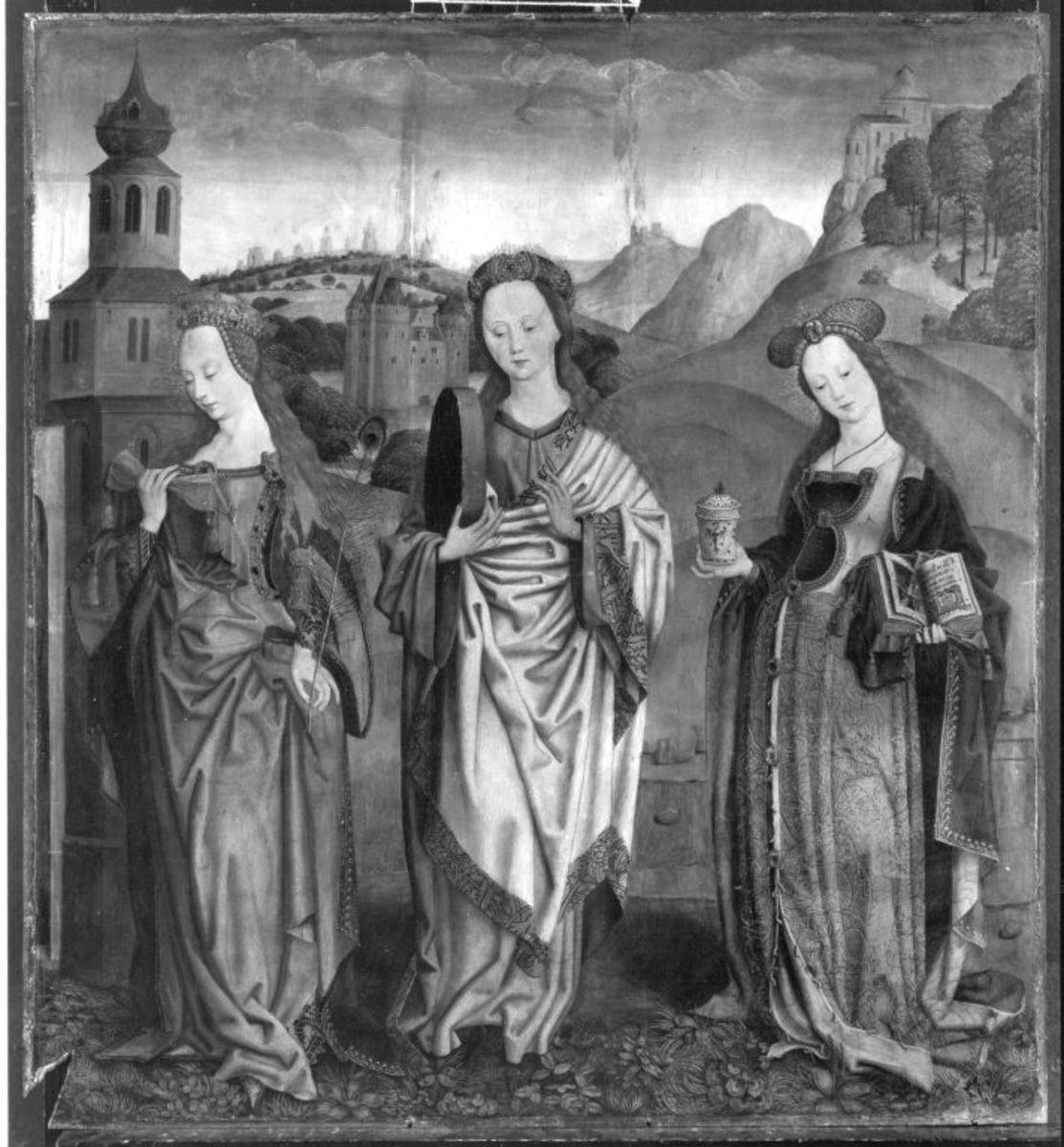 Beschneidungsaltar: Die hll. Barbara(?), Christina und Maria Magdalena