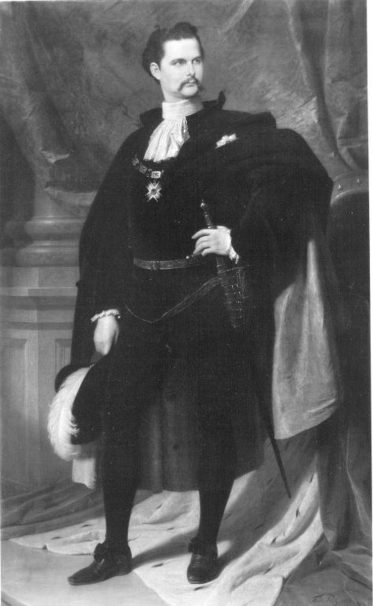 König Ludwig II. von Bayern als Hubertusritter