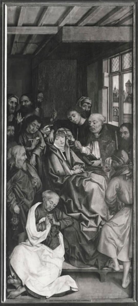 Apostelaltar: Tod Mariae