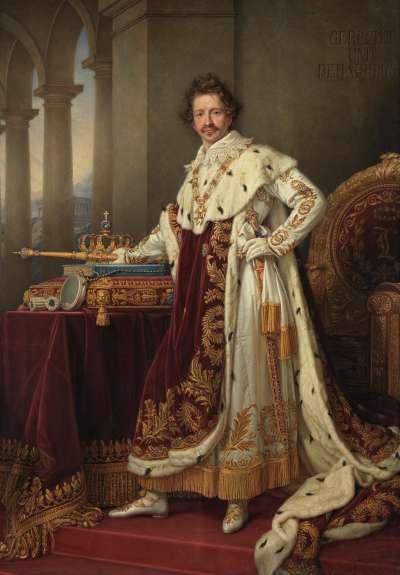 König Ludwig I. von Bayern im Krönungsornat