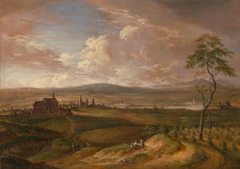 Ansicht von Mainz von der Ostseite