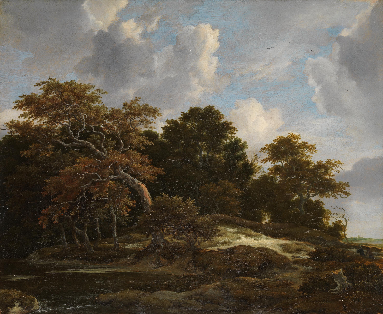 Waldlandschaft mit Hasenjagd