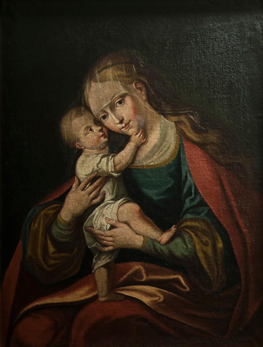 Madonna mit Kind (Kopie nach Gnadenbild von Lucas Cranach d. Ä.)