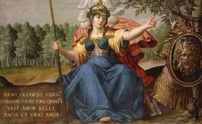 Minerva als Friedensbringerin
