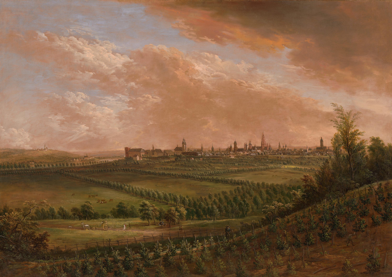 Blick auf Mainz von Nordwesten