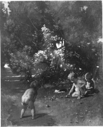 Boccia spielende Kinder