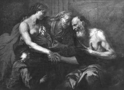 Sarah fordert von Abraham die Verstoßung Hagars