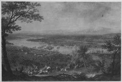 Der Übergang der Armee über die Saù (Save) 1688