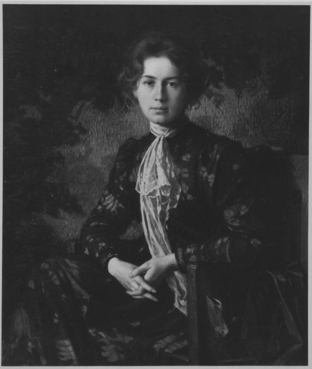 Rosa Blos, die Frau des Künstlers