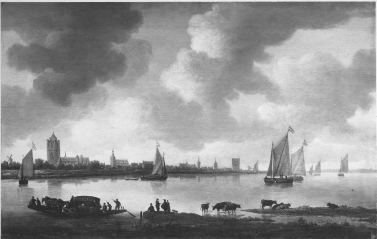 Stadt am Fluss (Ansicht von Zierikzee)