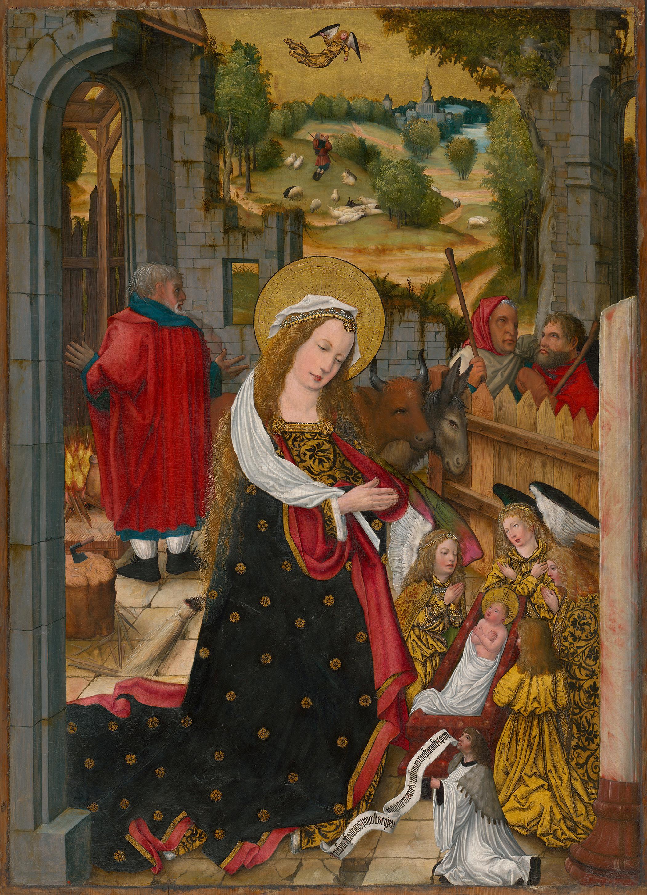 """Aschaffenburger Triptychon"": Geburt Christi"
