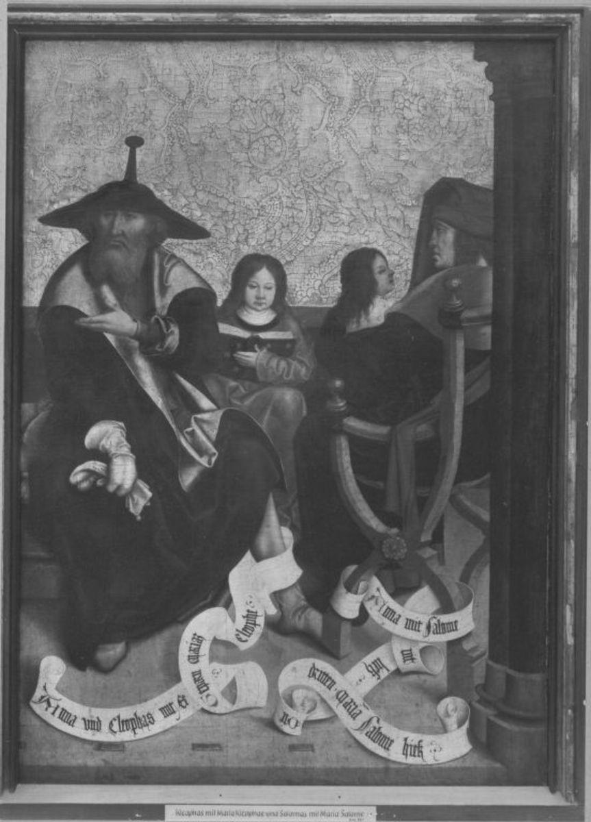 Mindelheimer Sippenaltar: Cleophas und Maria Cleophae, Salomas und Maria Salome
