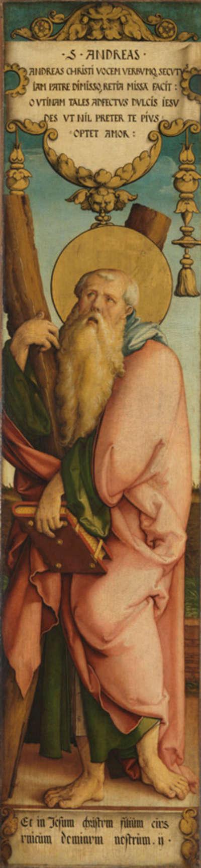 Hl. Andreas Rückseite: Kandelaberornament