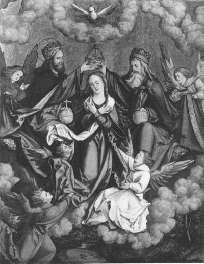 Christgartner Altar: Die Krönung Mariae
