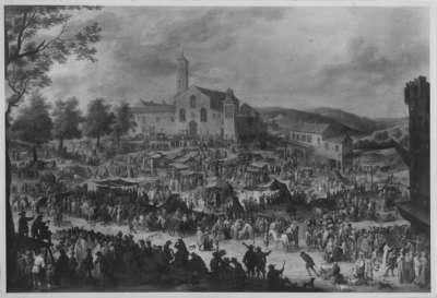 Der Jahrmarkt vor der Kirche S. Maria dell' Impruneta bei Florenz (nach Callot)