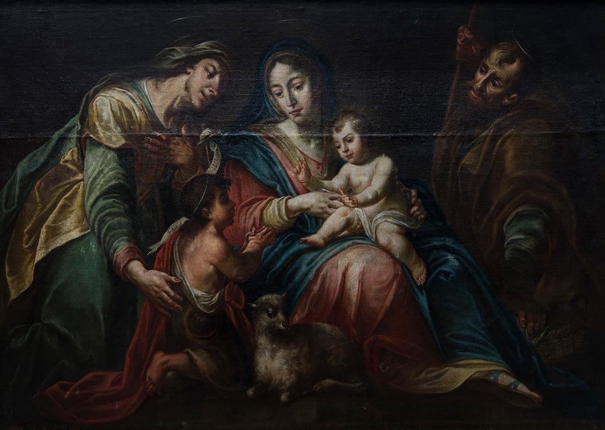Heilige Familie (Kopie nach dem Gnadenbild des Peter Candid in St. Anton, Mü.-Nr.7417)