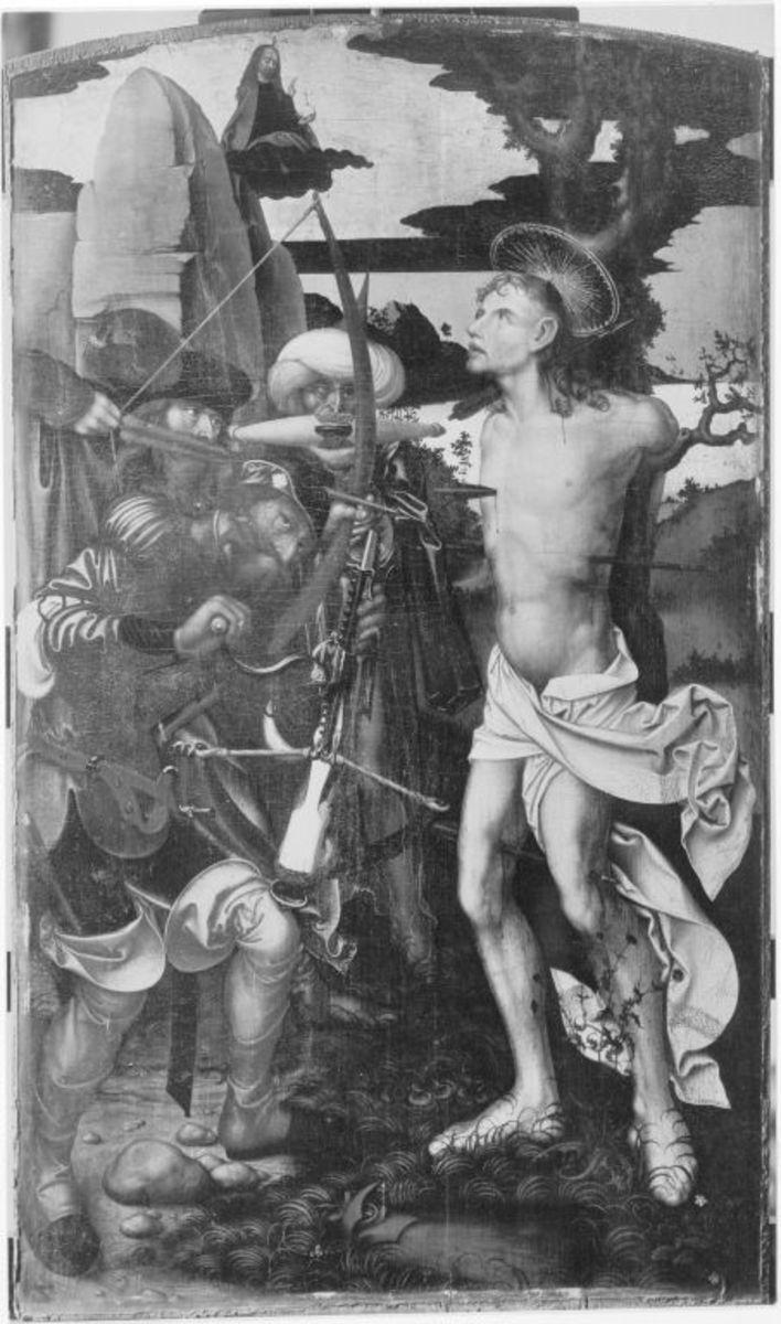 Teile eines Altares: Martyrium des hl. Sebastian