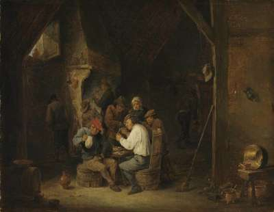 Flämische Dorfkneipe