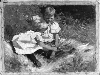 Bernhard und Else, spielend