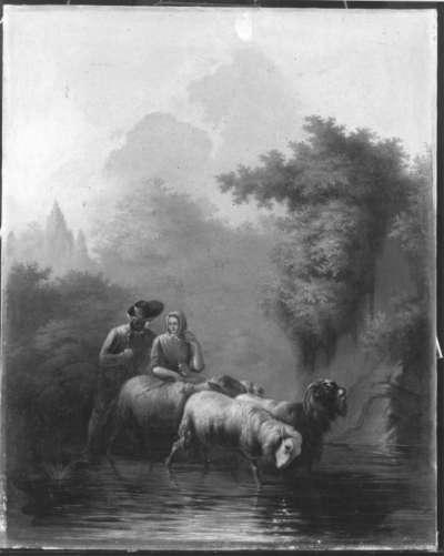 Landschaft mit Hirtenpaar