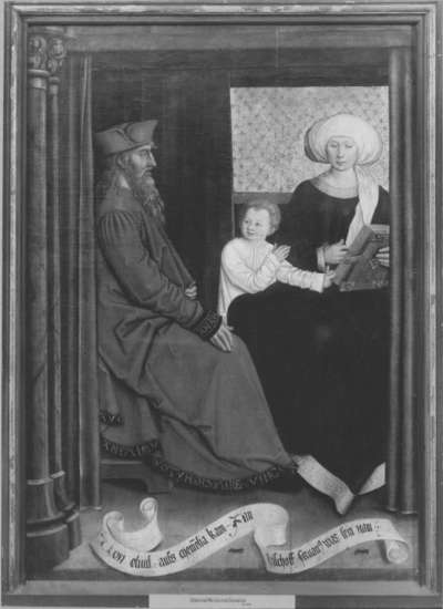 Mindelheimer Sippenaltar: Eliud und Memelia mit Servatius