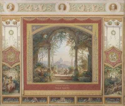Aussicht von der Villa Malta in Rom