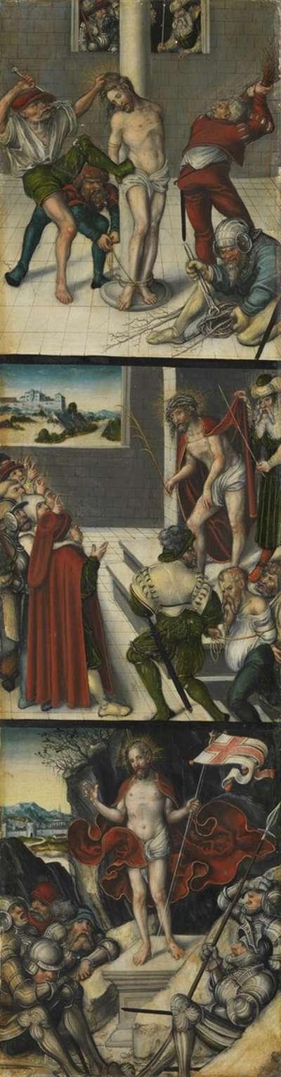 Kreuzigungstriptychon: Geißelung Christi, Ecce Homo, Auferstehung