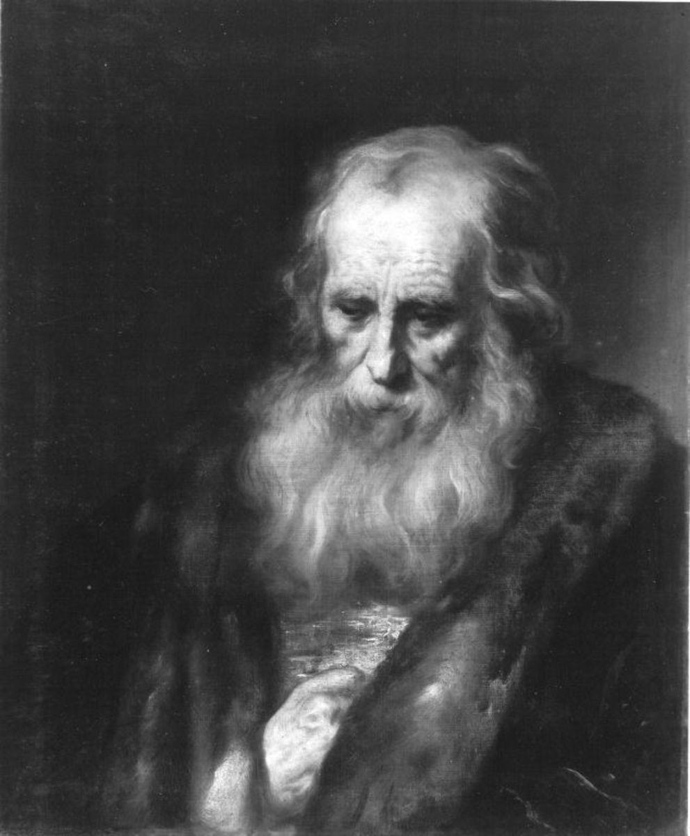 Brustbild eines alten Mannes