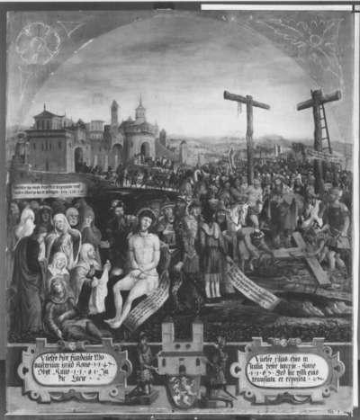 Letzte Rast oder Vorbereitung zur Kreuzannagelung Christi (Epitaph für die Stifter des Klosters Steingaden)