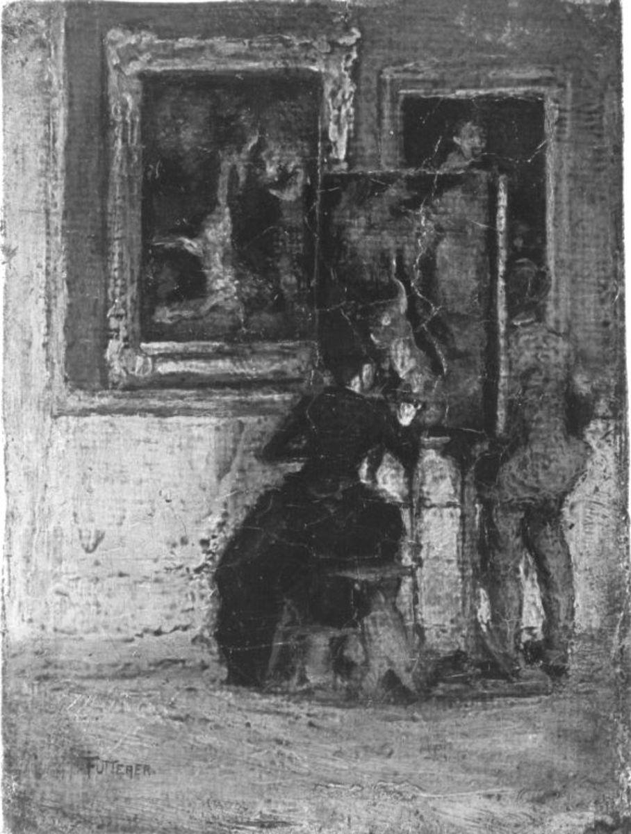 Kopistin in der Galerie