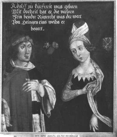 Bildnis Adolphs, Pius der Redliche, mit Gemahlin (Kopie nach älterem Vorbild)