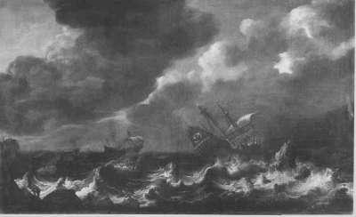 Seesturm mit Schiffbruch