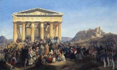 Empfang König Ottos von Griechenland in Athen