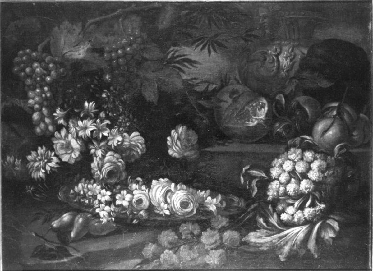 Stillleben mit Blumen und Früchten
