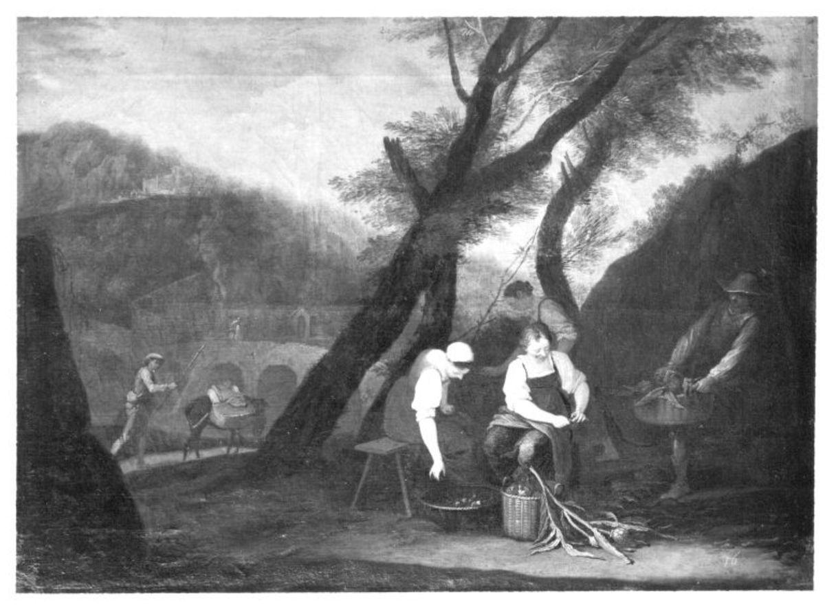Ländliche Szene (Artischockenputzerinnen)