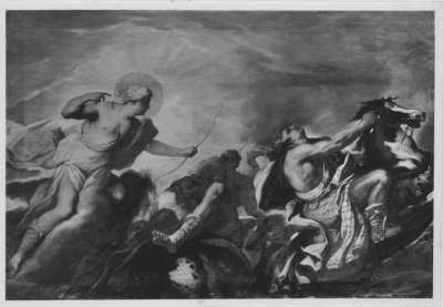Apollo tötet die Kinder der Niobe