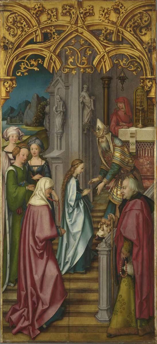 Kaisheimer Altar: Tempelgang Mariens