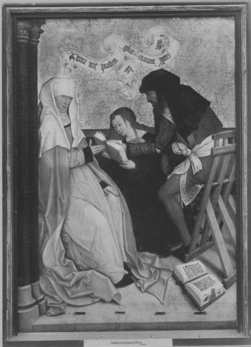 Mindelheimer Sippenaltar: Anna und Joachim mit Maria