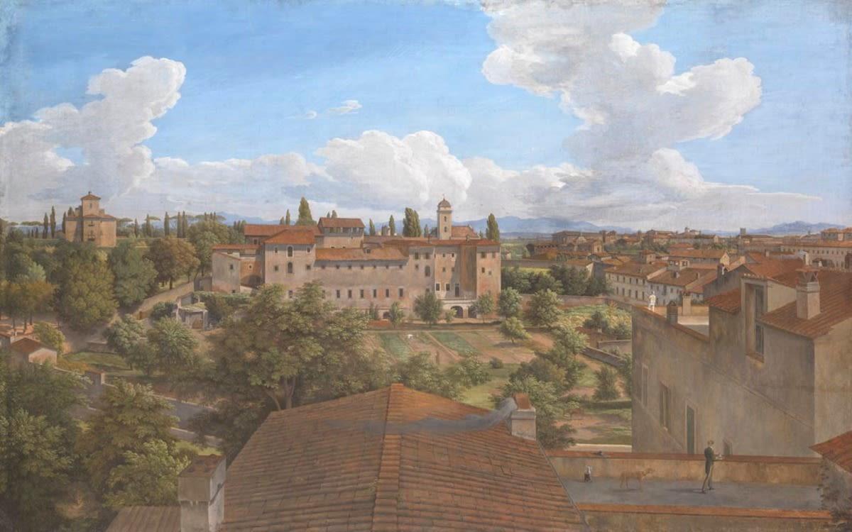 Blick von der Villa Malta in Rom nach Osten