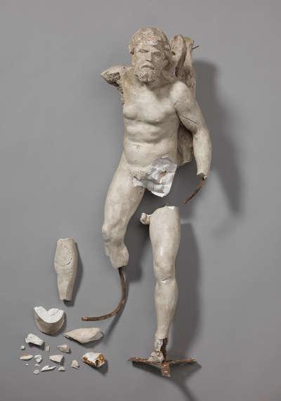 Männliche Figur vom Hubertsbrunnen