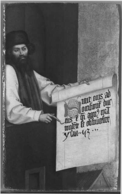 Buxheimer Altar: Prophet Isaias